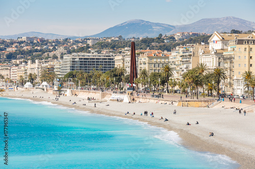 Aluminium Nice France Nice Mediterranean beach