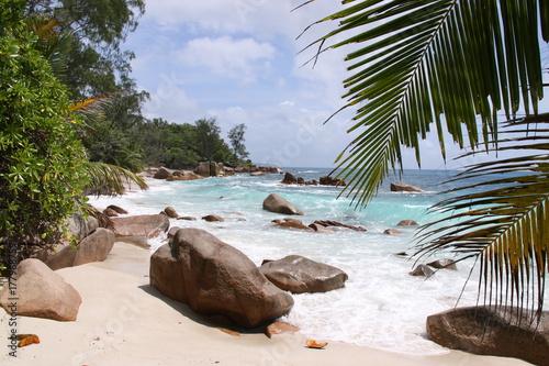 Fotobehang Tropical strand Plage Seychelles