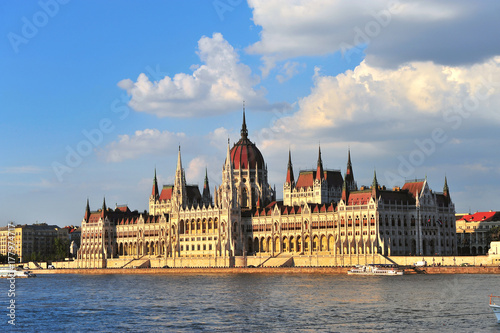 Parliament of Budapest on summer, Hungary Poster