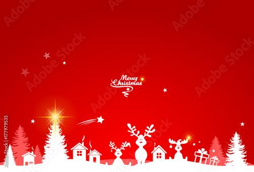 Weihnachten Landschaft Elche - 177979535