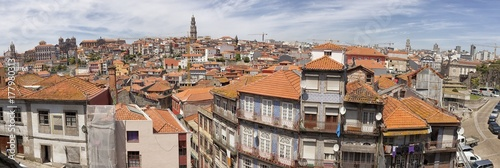 Porto. City landscape. places of Interest. Attractions. Poster