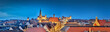 canvas print picture - Nürnberg Panorama bei Nacht