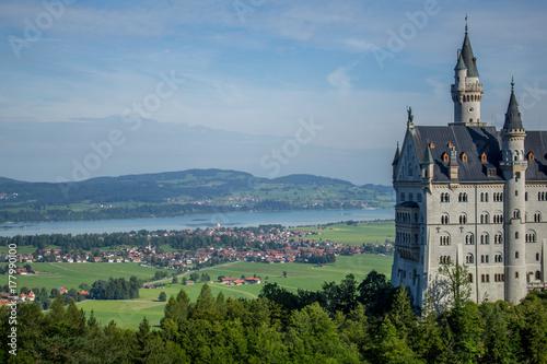 Schloss Neuschwanstein in Bayern Poster