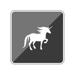 Einhorn - Fabelwesen - Reflektierender App Button
