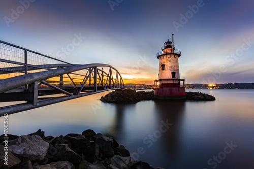 Sleepy Hollow Lighthouse (aka Tarrytown Light) at dusk Poster
