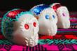 calaveritas de azucar, ofrendas y dia de muertos, sugar skull mexico city