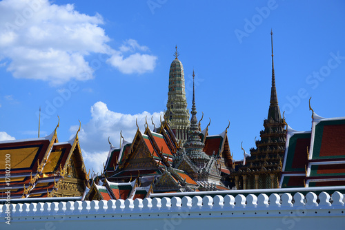 bangkok, grand, palace, day, thailand, wat, time, city, phra, kaew, background, Poster