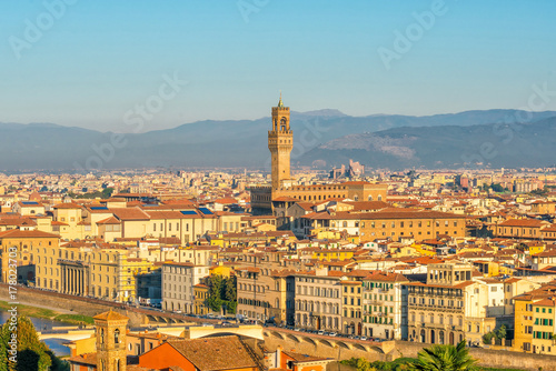 Fotobehang Palermo View of Florence skyline from top view