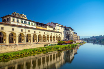 Florence city and the Arno River in Tuscany