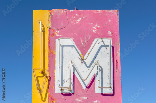 Aluminium Route 66 Motel Sign