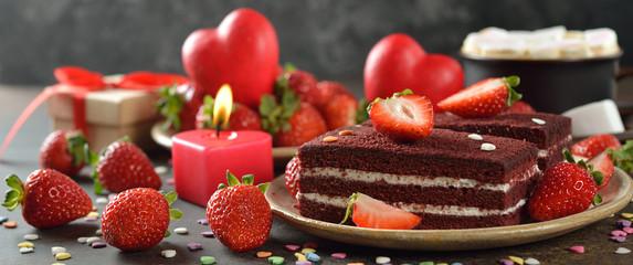 Sweet romantic dessert for Valentine's Day © olyina