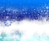 Merry Christmas: Blue background  with stars  :) - 178037583