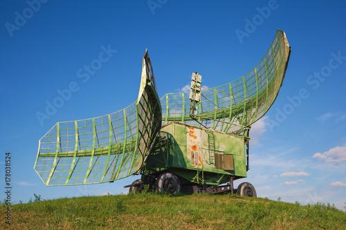the radar on the car. Mobile radar Poster