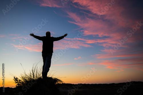 Worship God of Sunset Poster