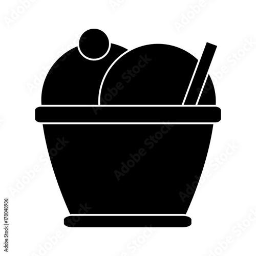 Ice cream cup icon vector illustration graphic design