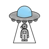 austronaut abducted by ufo science fiction - 178052906