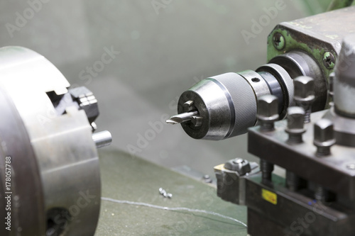 machining automotive part by cnc turning machine Poster