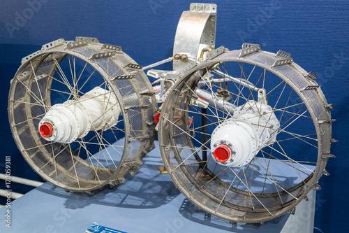 Fotobehang Heelal Lunokhod lunar rover wheels detail