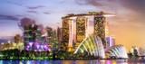 Singapore skyline background