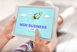 New business concept on a tablet - 178063192