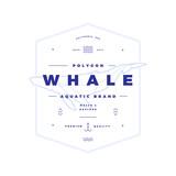 Polygonal Whale Badge on White