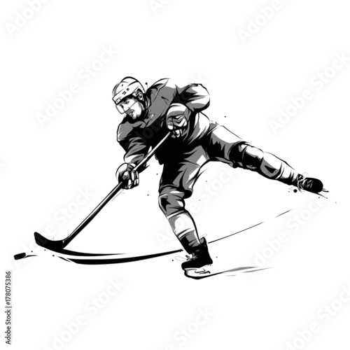 ice hockey player striker