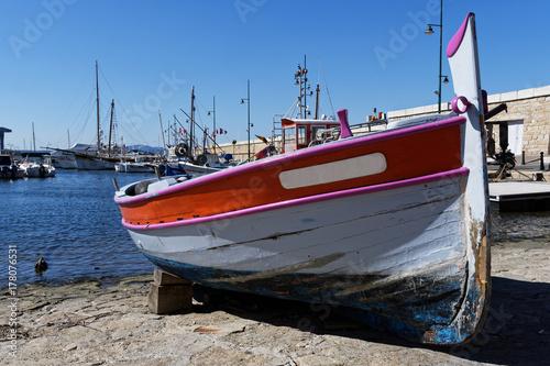 Keuken foto achterwand Schip Vieille barque de pêche