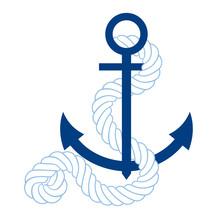 Anchor  Rope Sticker