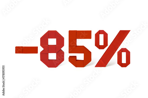 Poster Origami text of discount sale 85 percent