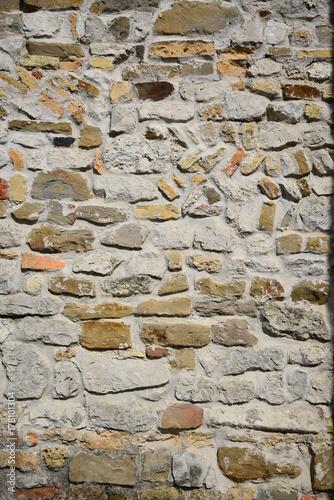 Foto op Canvas Baksteen muur Steinmauer