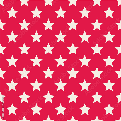 Pattern with stars. Seamless vector illustration. Retro, vintage background Vector illustration Flat Scandinavian style - 178101341