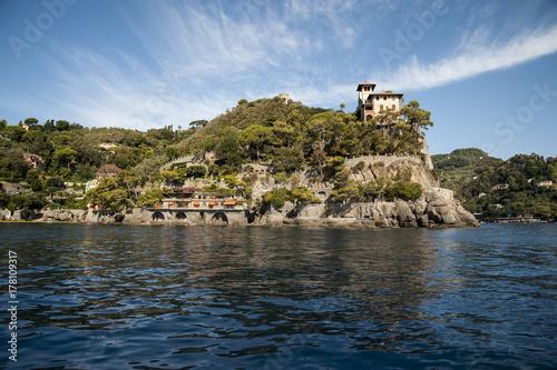 Portofino, Liguria Italia -  watching the coast from the sea Poster