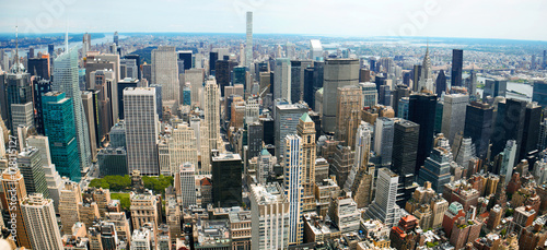 In de dag New York Manhattan Panoramic Aerial View