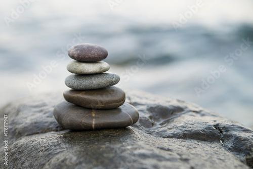 Foto op Canvas Zen Zen stones. Peace buddhism meditation symbol
