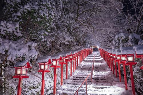 Staande foto Lavendel 貴船神社 雪