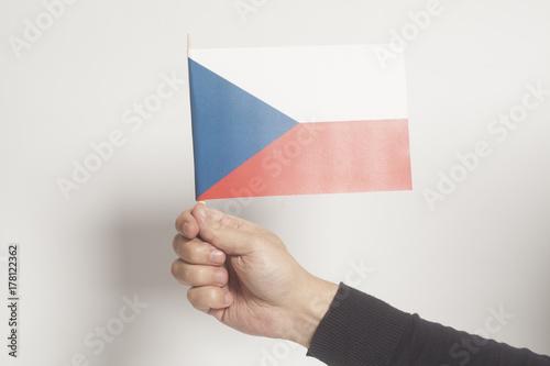 Holding Hand Czech Republic Flag Poster