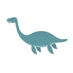 Cute plesiosaurus cartoon