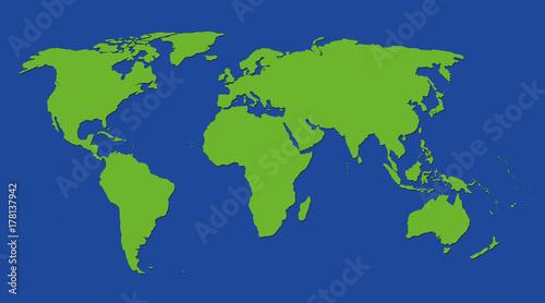 Fotobehang Wereldkaarten rüne erde weltkarte