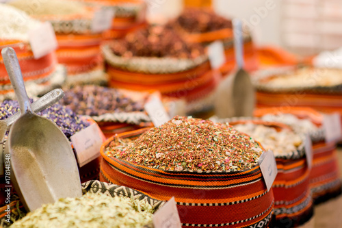 Fotobehang Abu Dhabi spice market