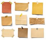 note paper blank sign tag label vintage - 178144372