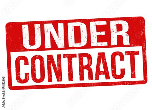 Under contract sign or stamp