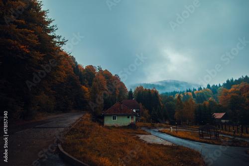Aluminium Chocoladebruin Autumn Landscape