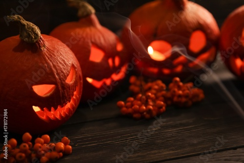 Halloween pumpkin jack-o-lantern Poster