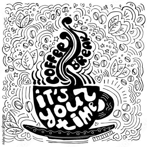 filizanka-kawy-napis-o-przerwie-i-przy-przerwie-filizanka-kawy-sylwetka-z-literami-na-bialym-tle