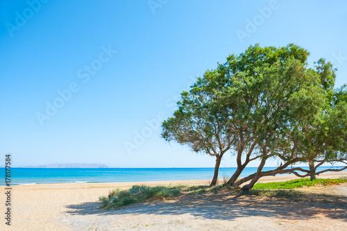 Beautiful beach on Crete island, Greece