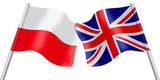Flags. Poland and United Kingdom