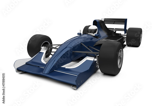 Fotobehang F1 Formula One Race Car Isolated