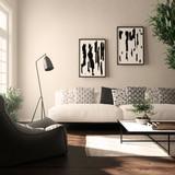 Blick auf ein Sofa im Wohnzimmer - 178191301