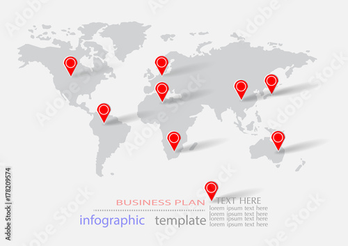 Fototapeta Abstract infographics template. Vector illustration layout diagram of business planning