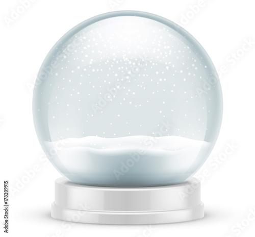 Tuinposter Bol Boule à neige vectorielle 1